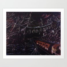 R'lyeh, the corpse city Art Print