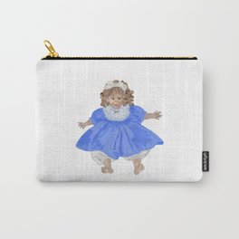 Doll in blue dress Carry-All Pouch