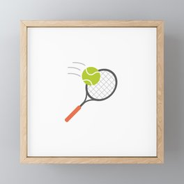 I love Tennis Framed Mini Art Print
