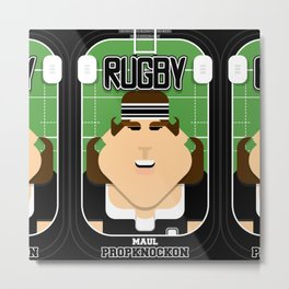 Rugby Black - Maul Propknockon - June version Metal Print