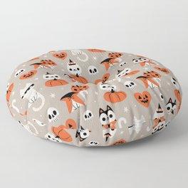 Halloween Kitties (Gray) Floor Pillow