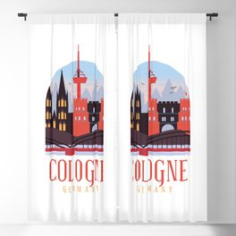 Cologne, Germany Blackout Curtain