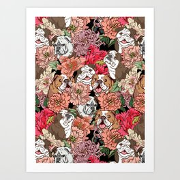 Because English Bulldog Art Print
