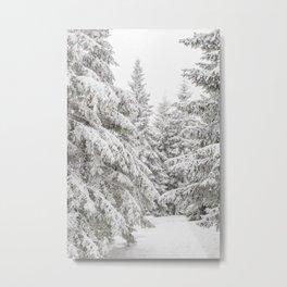 Snowy Forest Art Metal Print
