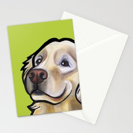 George the golden retriever Stationery Cards