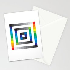 Colorful sqaures pattern Stationery Cards