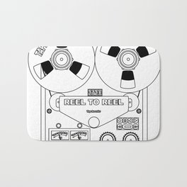 Reel To Reel Line Drawing Bath Mat