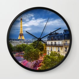 The View, Eiffel Tower Paris France Wall Clock