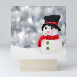 Christmas Photography - Mini Snowman Mini Art Print