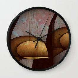 Through The Cracks Wall Clock