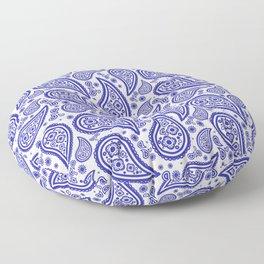Paisley (Navy Blue & White Pattern) Floor Pillow