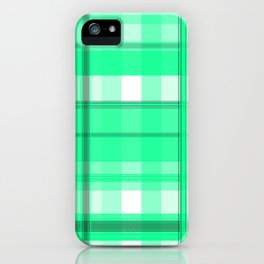 Shades of Light Green and Gray Plaid iPhone Case