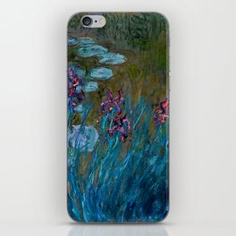 Monet Irises and Water Lilies iPhone Skin