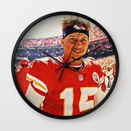 Chiefs Quarterback Patrick Mahomes Wall Clock