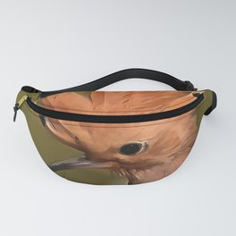 Beautiful Hoopoe Bird With Crown Of Feathers Fanny Pack