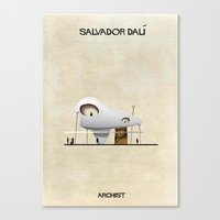 salvador dali Canvas Prints featuring Salvador Dali by federico babina