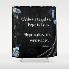 Daughter of Smoke and Bone Quote Print Shower Curtain