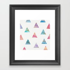 Marble Triangles Framed Art Print