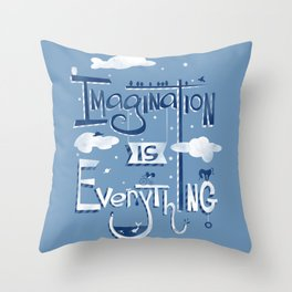 Imagination is Everything Throw Pillow