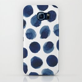 Watercolor polka dots iPhone Case