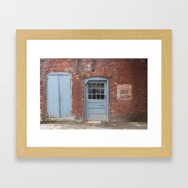 Danger Drive Slow Framed Art Print