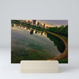 Jacqueline Kennedy Onassis Reservoir, Central Park, NYC Mini Art Print