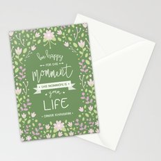 Be Happy for This Momment – Omar Khayyam's Quote Stationery Cards