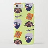 kakashi iPhone & iPod Cases featuring Kakashi Pattern by Palloma