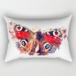 Butterfly - European Peacock Rectangular Pillow