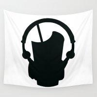 headphones Wall Tapestries featuring Milkshake Headphones by Milkshake Clothing