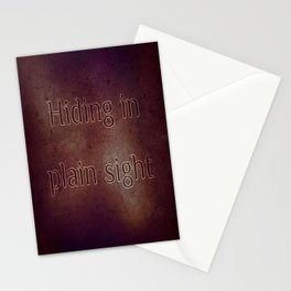 Hiding in plain sight Stationery Cards