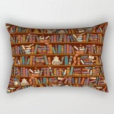 Bookshelf Rectangular Pillow