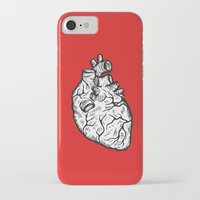 anatomical heart iPhone & iPod Cases featuring Anatomical Heart by Horse and Hare