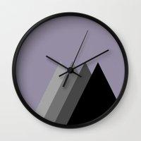 shadow Wall Clocks featuring Shadow by Shivani C