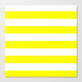 yellow horizontal stripes Canvas Print