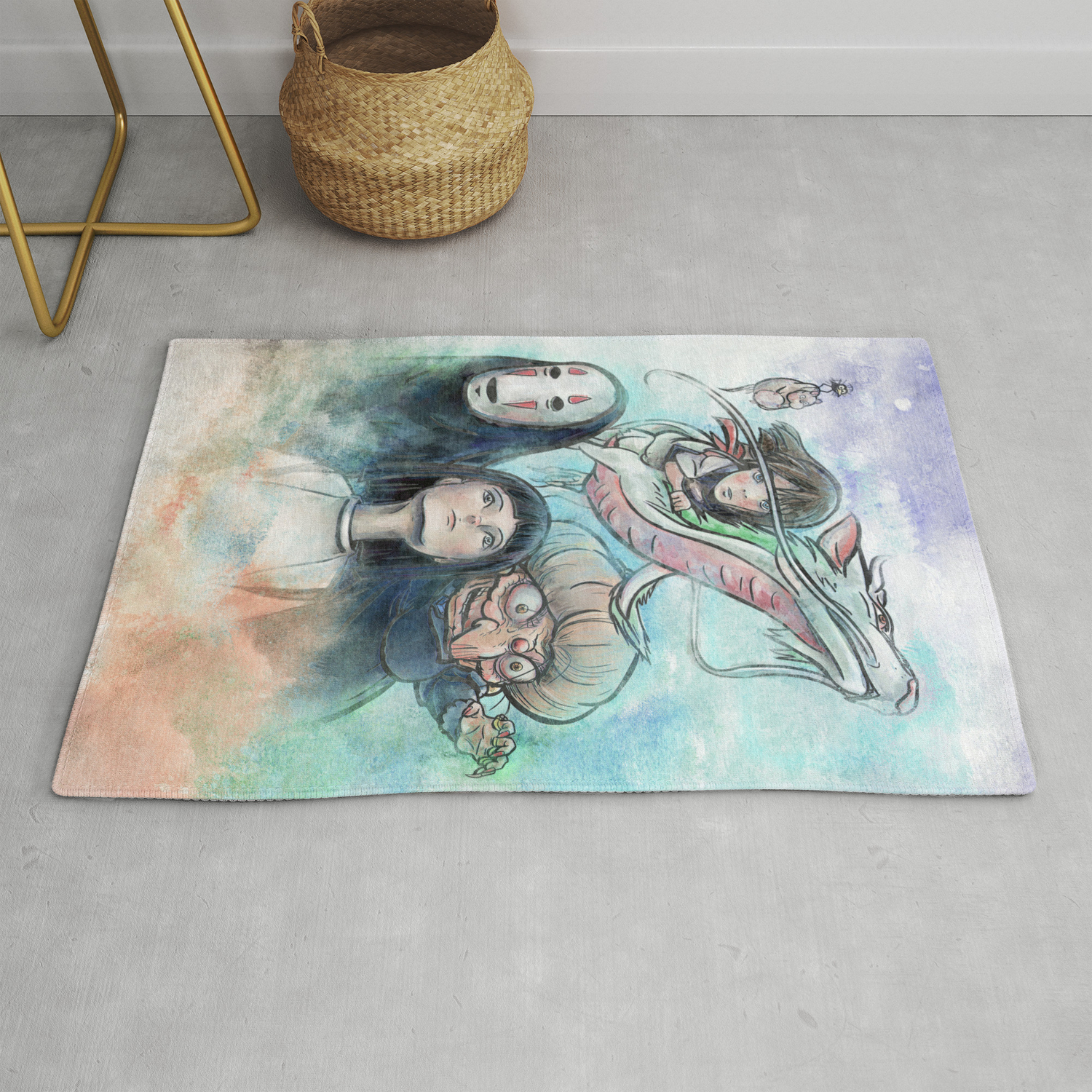 Spirited Away Watercolor Painting Rug By Jollyappleskull Society6