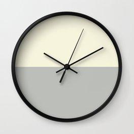 Benjamin Moore 2019 Color of Year Metropolitan AF-690 and Lemon Chiffon 932 Bold Horizontal Stripes Wall Clock