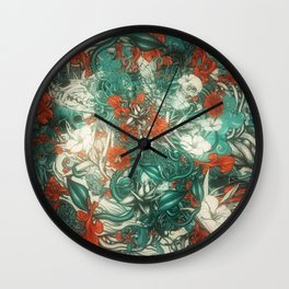 Sixth Mix Blue Wall Clock