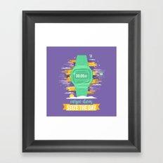 Carpe Diem - Seize the Day [green] Framed Art Print