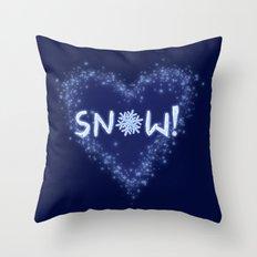 Snow Love Throw Pillow