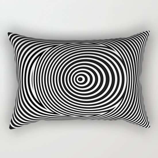 Black and White Dizzy Rectangular Pillow