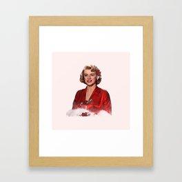 Rosemary Clooney - White Christmas -Watercolor #2 Framed Art Print
