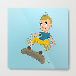 Skater boy cartoon Metal Print