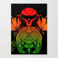 samus Canvas Prints featuring samus by Sixtybones