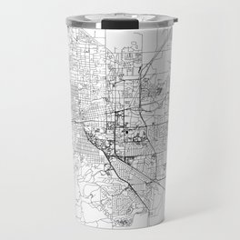 Boulder White Map Travel Mug