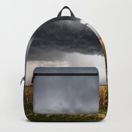 Corn Field - Storm Over Withered Crop in Southern Kansas Backpack