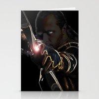 archer Stationery Cards featuring Archer by Kathryn Loch