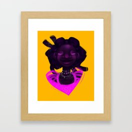 The sparkliest princess of all Framed Art Print