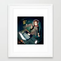 cyarin Framed Art Prints featuring Digital Artist by Cyarin