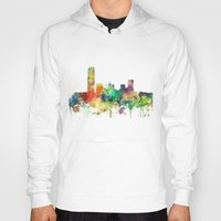 oklahoma Hoodies featuring Oklahoma City, Oklahoma skyline SP by Marlene Watson